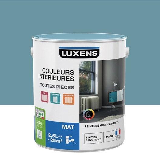 Peinture multisupports couleurs int rieures mat luxens for Peinture bleu marine mat