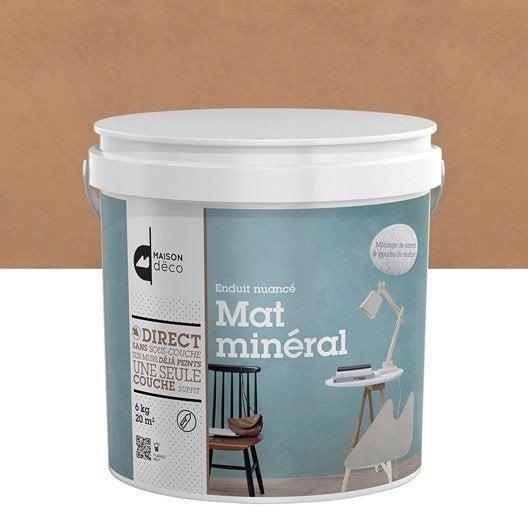 Enduit d coratif mat min ral maison deco argile 6 kg for Enduit beton mineral