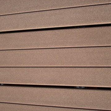 Planche premium en composite brun fonc l 240 x l 18 cm x ep 21 mm - Planche en composite prix ...