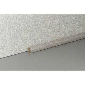 Plinthe pour parquet et stratifi plinthe bois assortie for Peindre plinthe carrelage