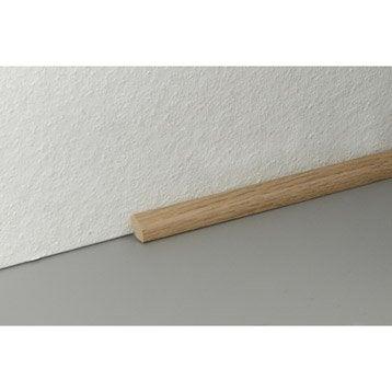 Plinthe pour parquet et stratifi plinthe bois assortie for Quart de rond parquet