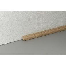 Plinthe pour parquet et stratifi plinthe bois assortie for Quart de rond polystyrene