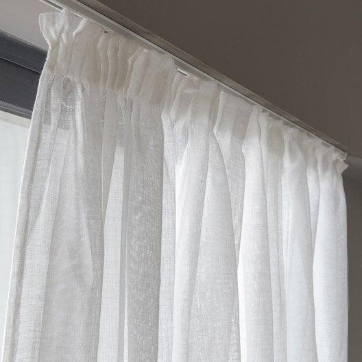 voilage de lin grande largeur blanc 290 x 240 cm leroy. Black Bedroom Furniture Sets. Home Design Ideas