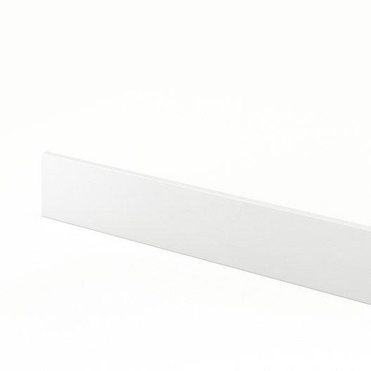 plinthe de cuisine blanc, l.270 x h.14.9 cm | leroy merlin - Plinthe Meuble Cuisine