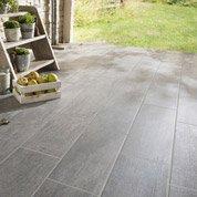 Carrelage sol anthracite effet bois River l.20 x L.60.4 cm