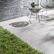 Carrelage gris clair effet pierre Dolmen l.45 x L.45 cm