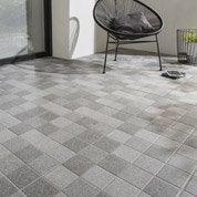 Carrelage gris fonce effet pierre Dolmen l.45 x L.45 cm