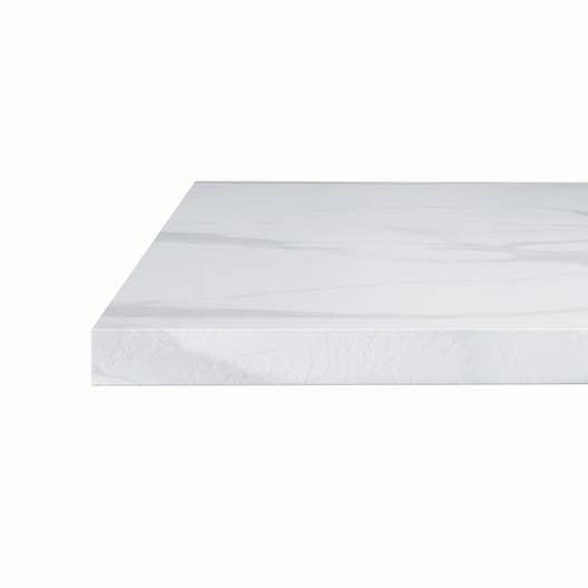 plan snack stratifi effet marbre blanc brillant x cm mm leroy merlin. Black Bedroom Furniture Sets. Home Design Ideas