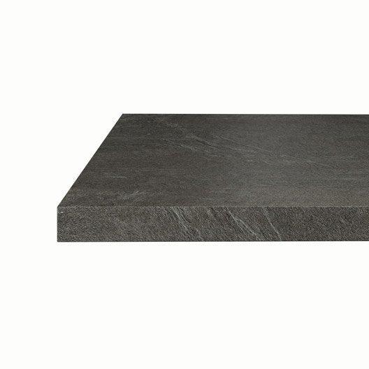 plan snack stratifi luna noir mat x cm mm leroy merlin. Black Bedroom Furniture Sets. Home Design Ideas