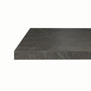 plan de travail de cuisine stratifi bois inox recoupable leroy merlin. Black Bedroom Furniture Sets. Home Design Ideas