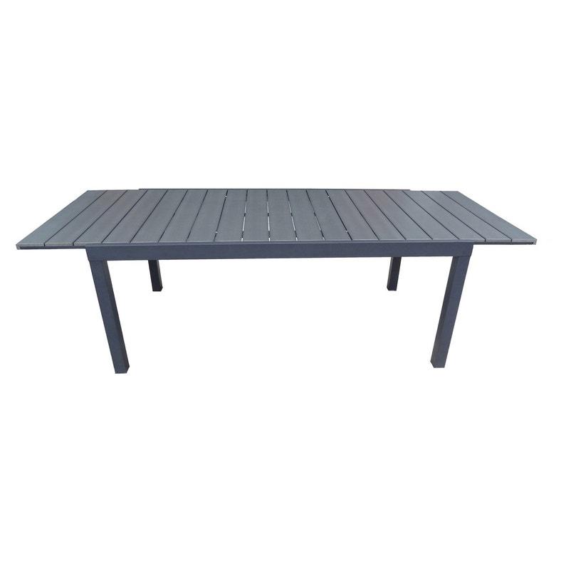 Table de jardin de repas NATERIAL Pratt rectangulaire gris 10 personnes