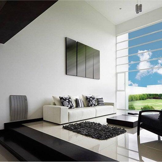 radiateur lectrique inertie pierre equation virtuoso gris 1000 w leroy merlin. Black Bedroom Furniture Sets. Home Design Ideas