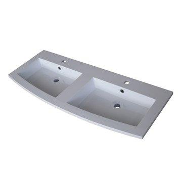 Plan vasque double Perla 122 cm