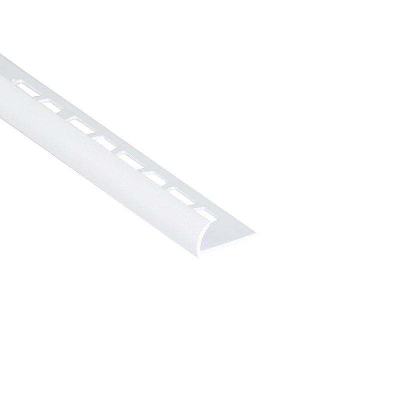 Quart De Rond Mur Blanc Mat Pvc L250 Cm X Ep8 Mm