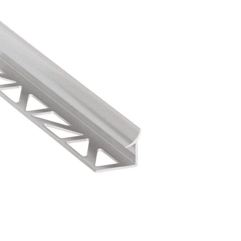 Profil Détanchéité Mur Et Sol Argent Mat Aluminium L250 Cm X Ep8 Mm