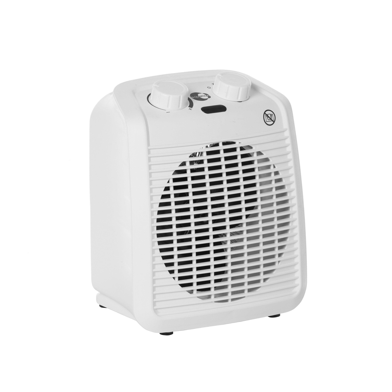 Radiateur soufflant salle de bain mobile électrique EQUATION Five blanc  16 W
