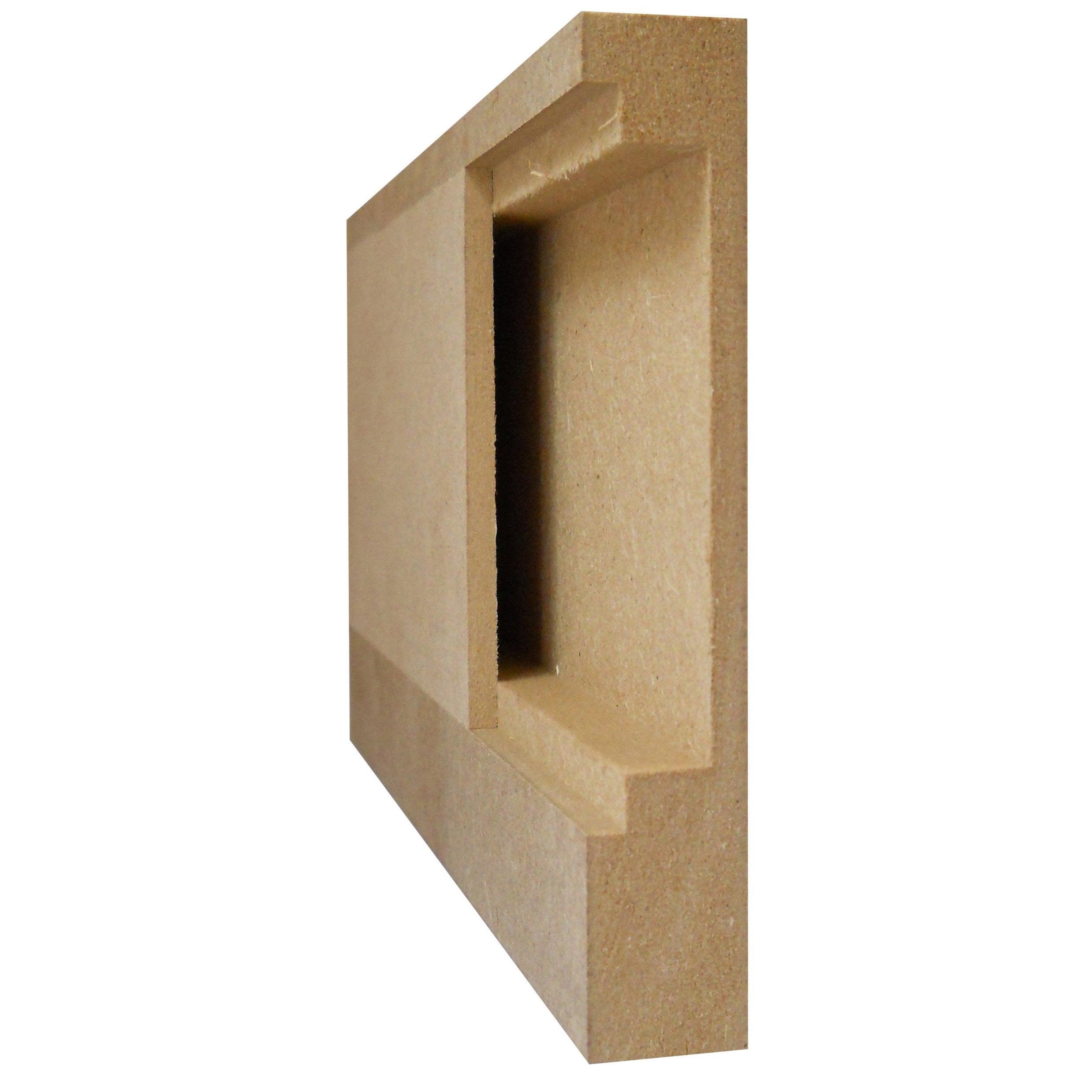 Comment Fabriquer Des Plinthes En Bois plinthe passe câble en mdf brut 18x108mm l 2.44m