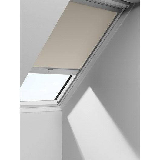 store fen tre de toit occultant t l commande solaire beige velux dsl u04 leroy merlin. Black Bedroom Furniture Sets. Home Design Ideas