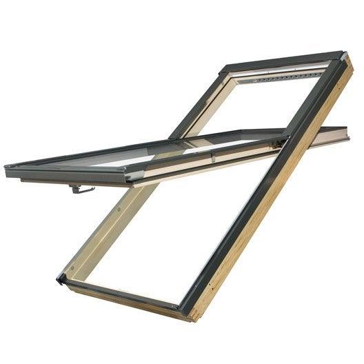 fen tre de toit fakro fyp v ouverture par rotation 140x78cm leroy merlin. Black Bedroom Furniture Sets. Home Design Ideas