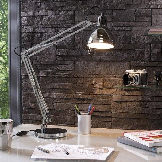 Lampe de bureau poser chrome cynthia leroy merlin - Lampe a poser leroy merlin ...