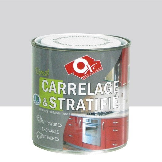 Peinture ox 39 oxytol gris coup d 39 clat 0 5 l leroy merlin for Peinture direct carrelage