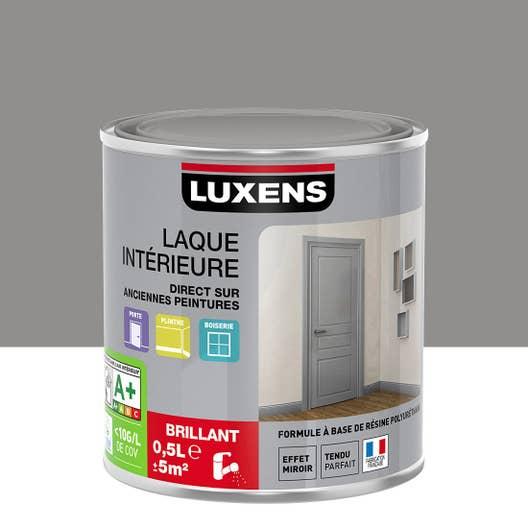 Peinture gris galet 3 brillant luxens laque brillante 0 5 for Peinture luxens gris galet