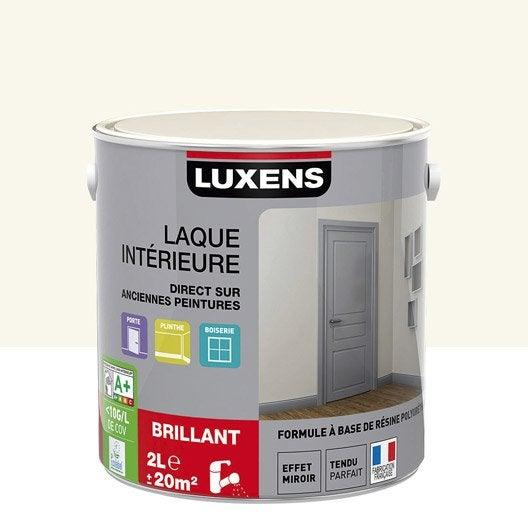 Peinture multisupports laque brillante luxens blanc - Peinture blanc laque brillant ...