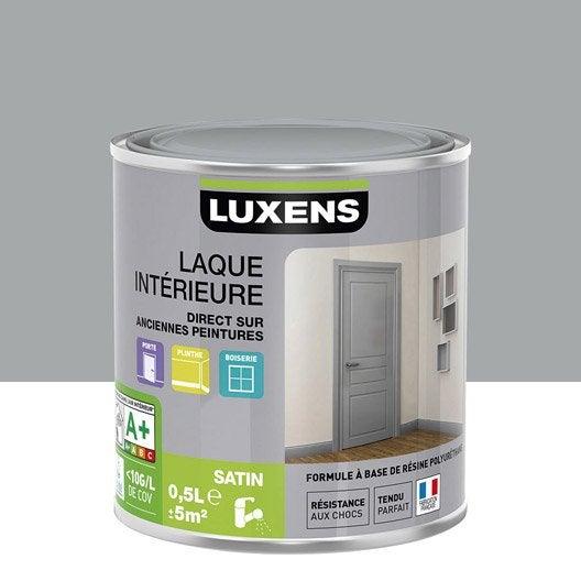 Peinture gris galet 4 LUXENS Laque satin 0.5 l | Leroy Merlin