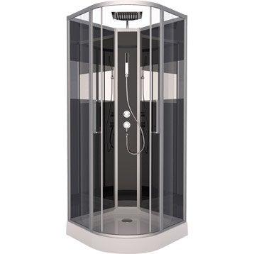 cabine de douche peppermint simple mitigeur 1 4 de cercle 85x85 cm. Black Bedroom Furniture Sets. Home Design Ideas
