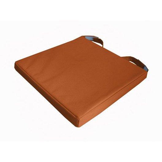 galette de chaise mona orange 40 x 40 cm leroy merlin
