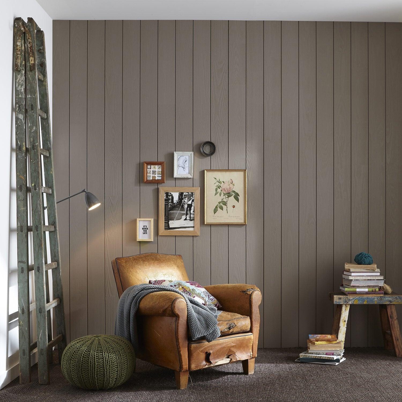 Lambris pin bross brun taupe n 3 x cm ep - Peindre des lambris ...
