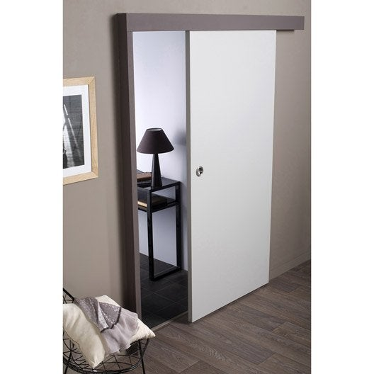 ensemble porte coulissante isoplane avec le rail jazz 2 en aluminium leroy merlin. Black Bedroom Furniture Sets. Home Design Ideas