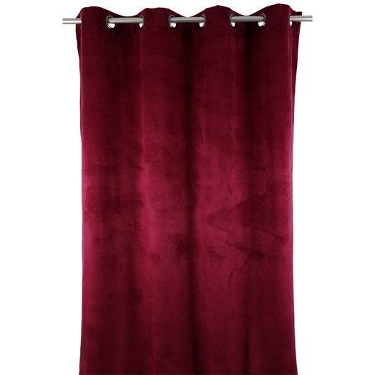 rideau tamisant grande hauteur blair bordeaux x cm leroy merlin. Black Bedroom Furniture Sets. Home Design Ideas