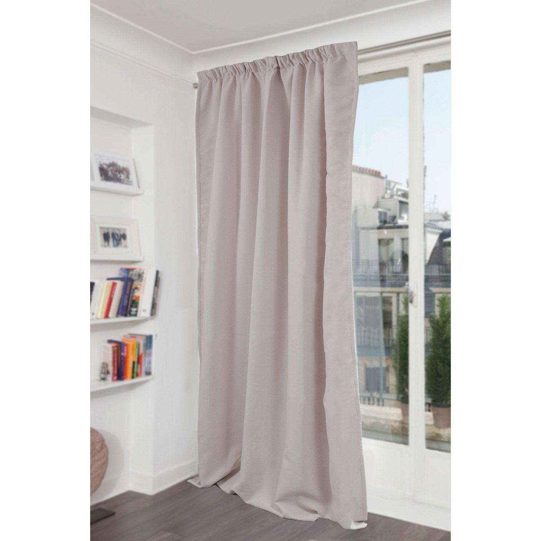 rideau occultant phonique gris clair x cm leroy merlin. Black Bedroom Furniture Sets. Home Design Ideas