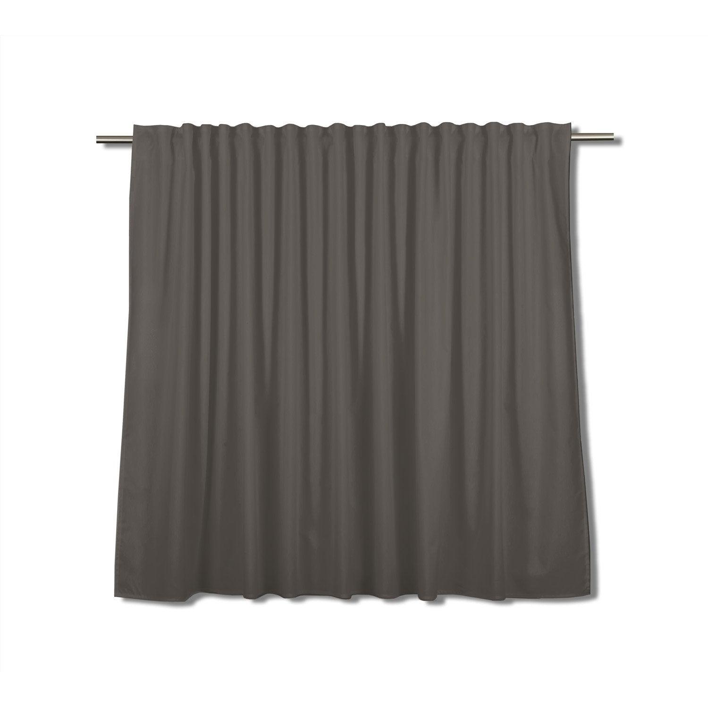 Rideau tamisant grande largeur, Neo, gris foncé, l.260 x H.140 cm ...
