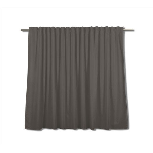 rideau tamisant grande largeur neo gris fonc x cm leroy merlin. Black Bedroom Furniture Sets. Home Design Ideas