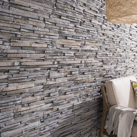 Plaquette de parement plaquette de parement et accessoires leroy merlin - Plaquette de parement brique blanche ...