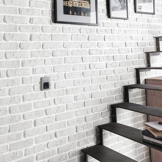 plaquette de parement pl tre blanc chelsea leroy merlin. Black Bedroom Furniture Sets. Home Design Ideas