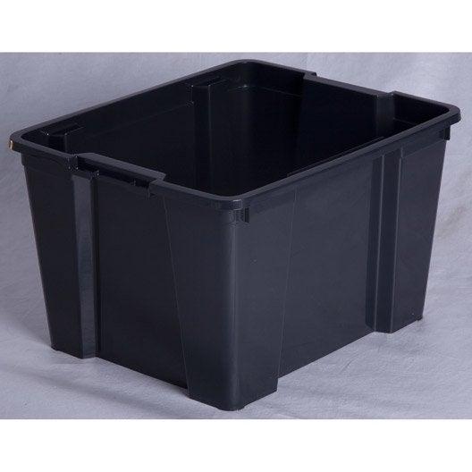 bac de manutention plastique x x cm leroy merlin. Black Bedroom Furniture Sets. Home Design Ideas