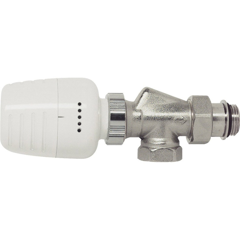 Robinet Thermostatique Equerre Inversee 15 21 Male Femelle Laiton Nickele Ecopro