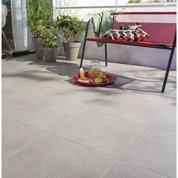 Carrelage sol gris clair effet pierre Silex l.45 x L.45 cm