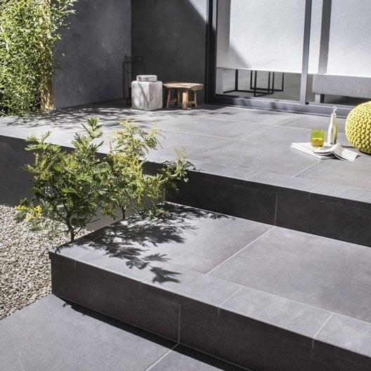 carrelage sol noir effet b ton houston x cm leroy merlin. Black Bedroom Furniture Sets. Home Design Ideas