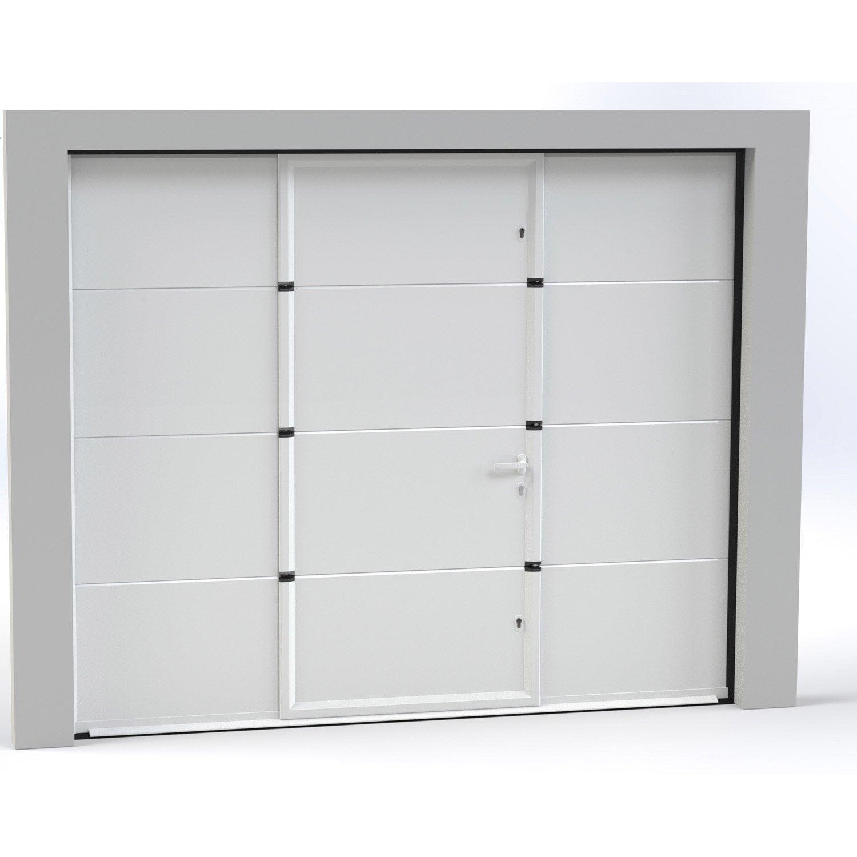 Porte De Garage Sectionnelle Motorisée ARTENS Essentiel Xcm - Porte de garage sectionnelle avec porte douche pvc
