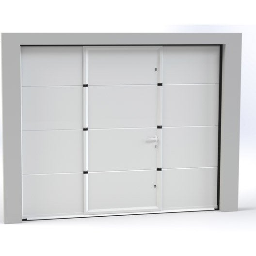 Porte De Garage Sectionnelle Basculante Porte De Garage Avec - Porte de garage sectionnelle avec fermeture porte fenetre pvc