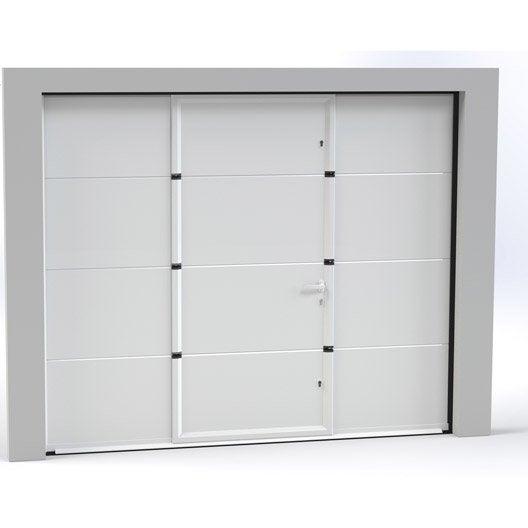 Porte De Garage Sectionnelle Basculante Porte De Garage Avec - Porte de garage sectionnelle avec portillon tarif