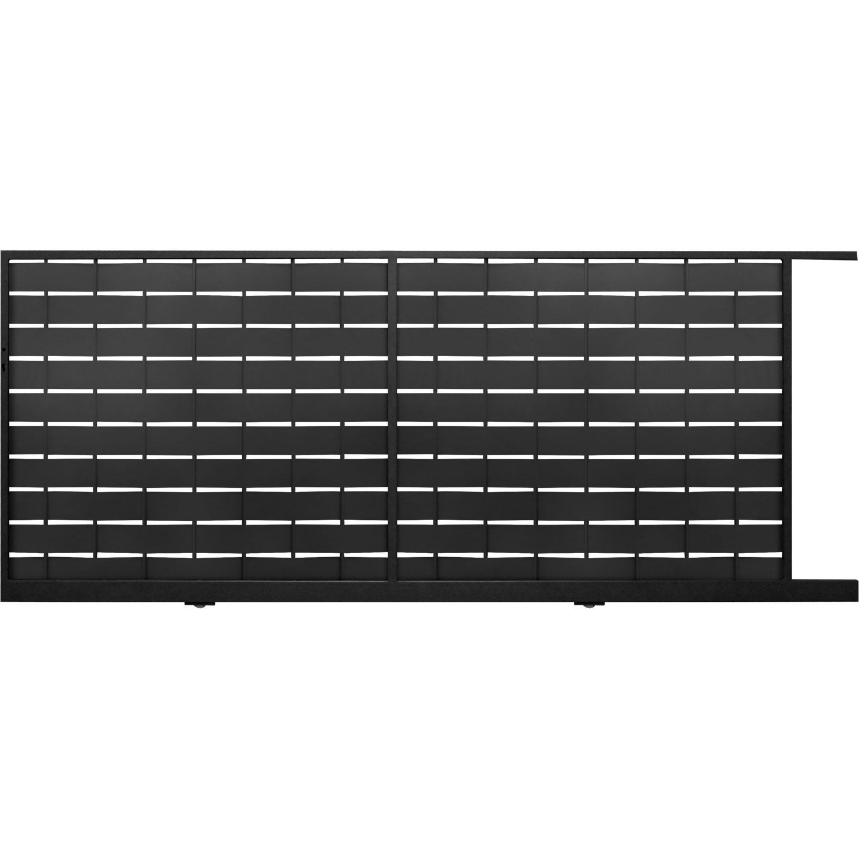 portail coulissant acier galvanis eria gris anthracite cm x cm leroy merlin. Black Bedroom Furniture Sets. Home Design Ideas