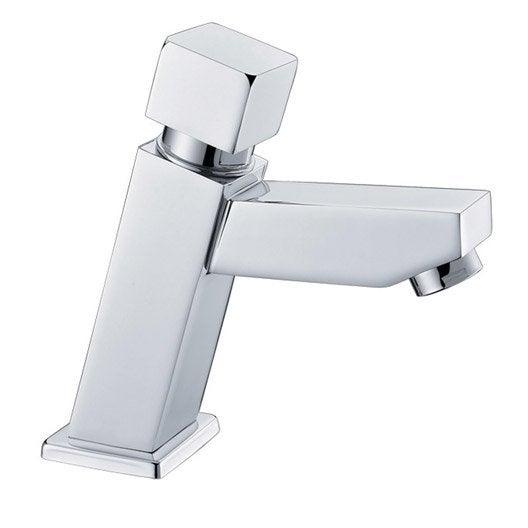 Robinet de lave mains eau froide chrom brillant sensea bacata leroy merlin - Robinet lave main eau froide ...