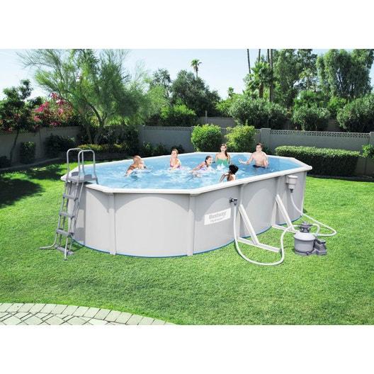 piscine hors sol acier 56369 bestway diam 6 1 l 6 1 x l 3 6 x h 1 2 m leroy merlin. Black Bedroom Furniture Sets. Home Design Ideas