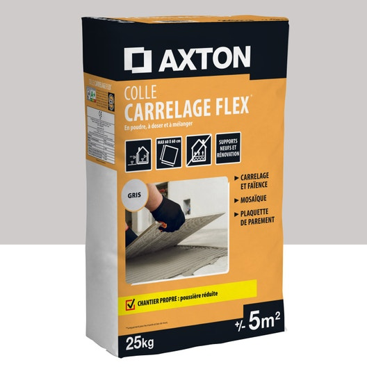 mortier colle axton colle carrelage flex gris 5m 25kg pour ciment colle mur leroy merlin. Black Bedroom Furniture Sets. Home Design Ideas
