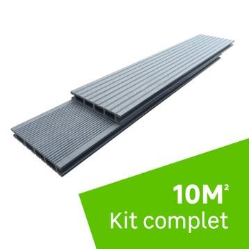 Extraordinaire Kit Terrasse Composite 20m2 au meilleur prix | Leroy Merlin NV-44
